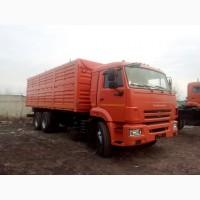 Бортовой автомобиль-зерновоз с трехсторонней разгрузкой КАМАЗ-65115