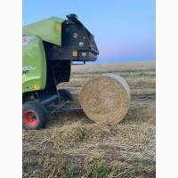 Сено разнотравье и солома урожай 2020 пшеничная и ячменная в рулонах, высокого качества