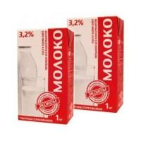 Молоко Эконом 3.2% у/пастеризованное ТБА с крышкой